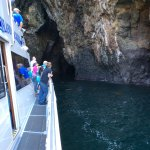 Going into the cave on Santa Cruz Island