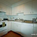 Yama Suite kitchen with full size fridge