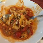Rabbit Parradelle, I ate some, the plate wasn't that messy when it came out