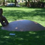 This is the new sculpture which acknowleges Brown University's association with the slave trade.