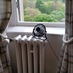 The minuscule fan trying to give me a breather. The wee thing failed.