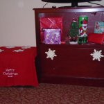 Decorated TV stand