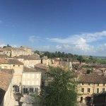 vue du haut de la terrasse de Saint Emilion