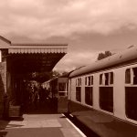 The platform and station at Buckfastleigh