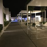 Rooftop bar and snack bar at night (the were closing)