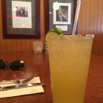 My margarita and menus for lunch and cocktails