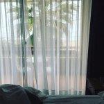 Vista desde la habitación, tenia solo para mi una pequeña terraza con mesa y sillas