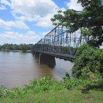 Walk across the river via this bridge