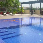area de la piscina, relajante y tranquila