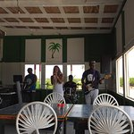 Enjoying the music of Nattie and the House at Nat's Palm Grove