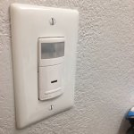 New bathroom switch turns lights on automatically when you enter the bathroom. Nice at night!