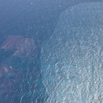 Pretty water view from a Caribbean Helicopter.