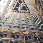Interior ceiling view from the 2nd floor of Burj Al Arab