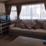 Inside Extra wide 2 bed caravan