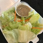 Side salad with yummy house dressing