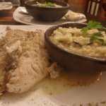 fish with lemon butter and mushroom risotto