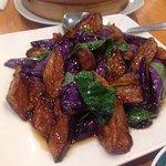 Eggplant with basil.