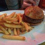 Burget & fries with gluten free bun