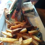 Mushroom steak and steak sandwich