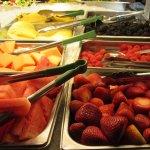 Freshest fruit display I've ever seen.