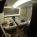 View from room's door (fish-eye view)