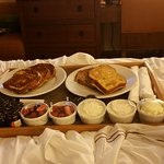 French toast in bed. Loved it