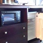 microwave & mini-fridge