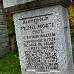Memorial marker in Mountaineer's Cemetery