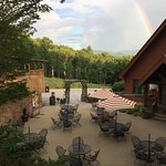 Just photo of rainbow at the wine patio
