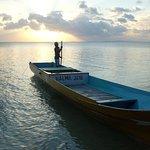 Le bateau qui nous a depose a Hoga Island. Organise par l'hotel.