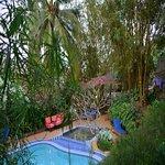 Swimming pool across the road at Banana Republic