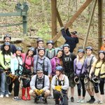 Our Group at Wahoo Zip Lines