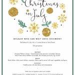 Christmas in July menu 2017