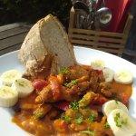 wahnsinns Tagesgericht: Paprikageschnetzeltes mit Tomaten-Bananen-Soße