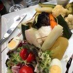 Proposition du jour dos de cabillaud, légumes extras