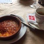 Crema catalana and cafe solo
