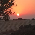 Sunset driving to Kouklia