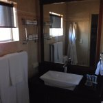 Clean bathroom with heated floor