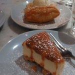 Greek Filo Custard Tart & Caramel & Pecan Cheesecake