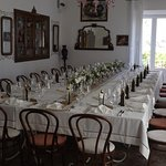 The wedding meal dining room