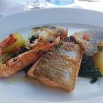Plats : Plancha 3 poissons Risotto et viande