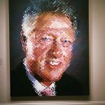Bill Clinton by Chuck Close