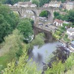 River Nidd and Railway Viaduct from the Castle