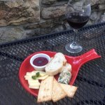 Blueberry Mustard and Herbed Goat Cheese ~ Outdoor Seating