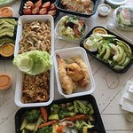 A variety of takeout from Megu Sushi Ventnor