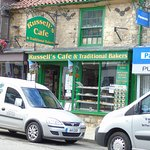 Russell`s cafe half way up the road
