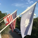 Flying flags on Independence Day weekend