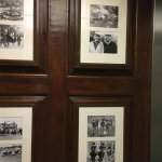 Historical photo viewing in the elevator