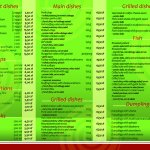 English menu