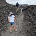 more rugged part of crater floor hike